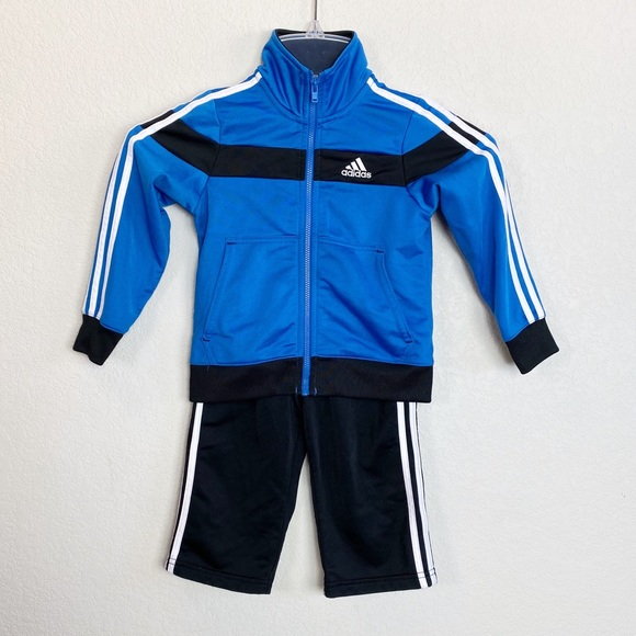 adidas Other - Adidas Black & Blue Track Suit 24 Month
